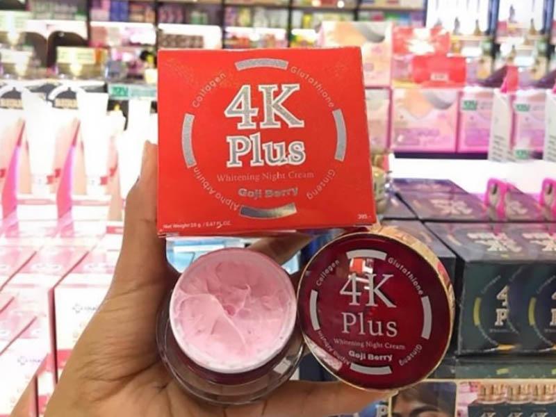 4K Plus Whitening Night Cream Goji Berry