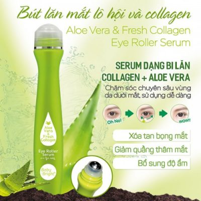 Cây Lăn Mắt Lô Hội Và Collagen Baby Bright 15ml Thái Lan