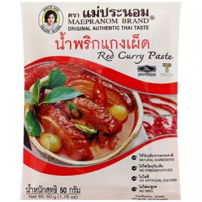 Gia Vị Cà Ri Đỏ Maepranom Red Curry Paste 50g Thái Lan