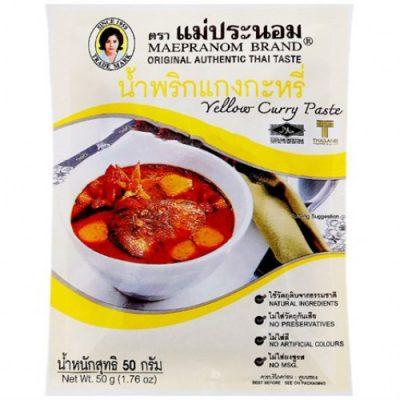 Gia Vị Cà Ri Vàng Yellow Curry Paste 50g Thái Lan
