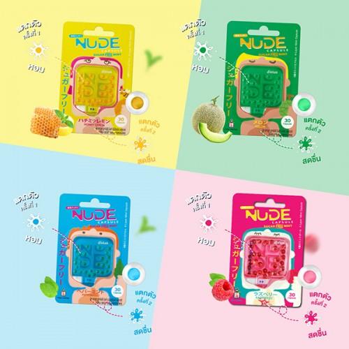 Mouth Freshner Melt Candy Nude Capsule Sugar Free Mint