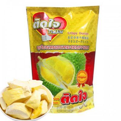 Sầu Riêng Sấy Khô Thái Lan TidJai Crispy Durian Monthong 215g