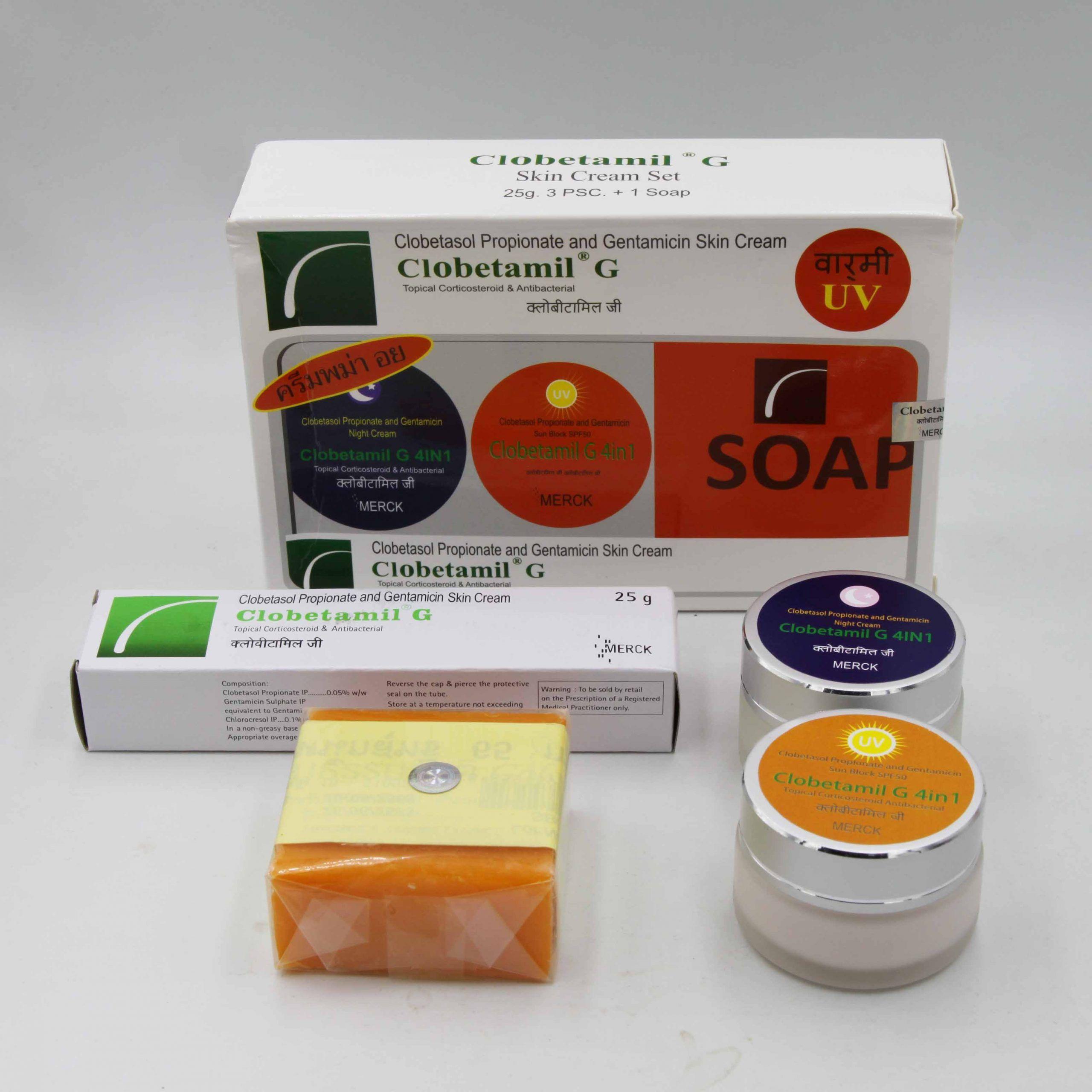 Bộ kem đặctrị námtàn nhang dưỡng trắng CLOBETAMIL G