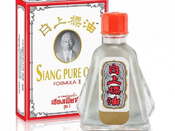 Dầu gió ÔNG GIÀ siang pure oil formula II Thái lan màu trắng